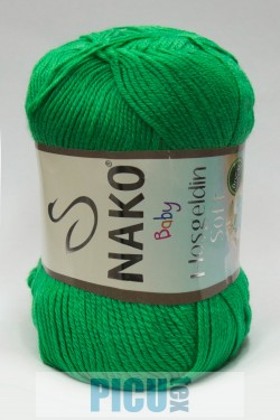 Poze Fir de tricotat sau crosetat - Fire amestec BAMBUS + POLIAMIDA NAKO Hoşgeldin Soft Verde 6739