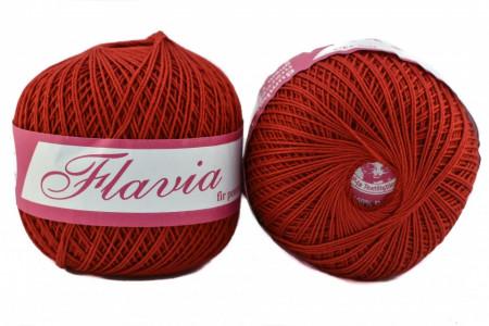 Poze Fir de tricotat sau crosetat - Fire Bumbac 100% FLAVIA ROMANOFIR BOBINA ROSU 1333