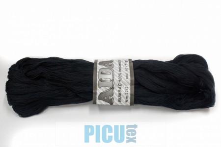 Poze Fir de tricotat sau crosetat - Fire Bumbac 100% mercerizat AIDA ROMANOFIR SCUL NEGRU 1201