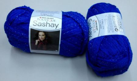 Poze Fir de tricotat sau crosetat - Fire pretricotate esarfa SASHAY albastru S 1870