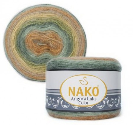 Poze Fir de tricotat sau crosetat - Fire tip mohair acril NAKO ANGORA LUKS COLOR 81912
