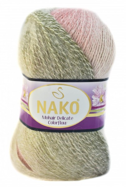 Poze Fir de tricotat sau crosetat - Fire tip mohair acril NAKO MOHAIR DELICATE COLORFLOW DEGRADE 28091