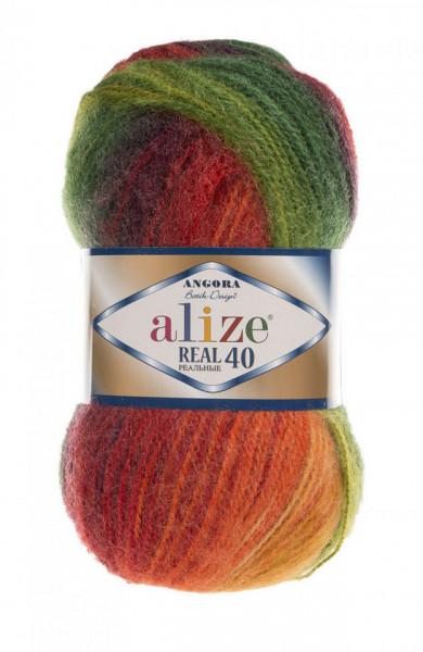Poze Fir de tricotat sau crosetat - Fire tip mohair din acril Alize Angora Real 40 Batik degrade 4895
