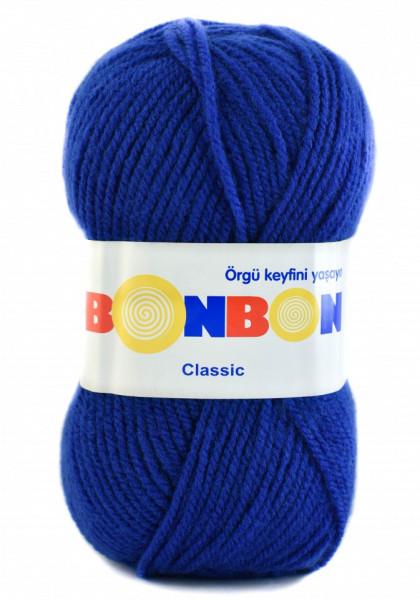 Poze Fir de tricotat sau crosetat - Fire tip mohair din acril BONBON CLASIC ALBASTRU 98488