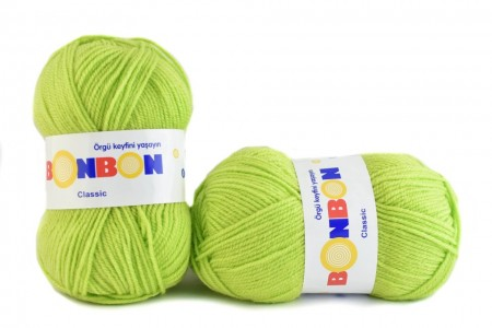 Poze Fir de tricotat sau crosetat - Fire tip mohair din acril BONBON CLASIC VERNIL 98228