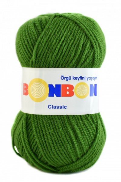 Poze Fir de tricotat sau crosetat - Fire tip mohair din acril BONBON CLASIC VERDE 98235