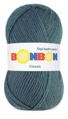 Poze Fir de tricotat sau crosetat - Fire tip mohair din acril BONBON CLASIC ALBASTRU 98263