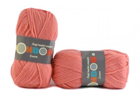 Poze Fir de tricotat sau crosetat - Fire tip mohair din acril BONBON CUORE - FREZ - 98649