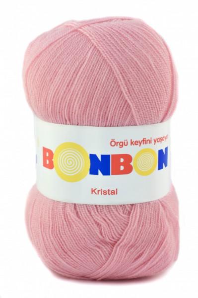 Poze Fir de tricotat sau crosetat - Fire tip mohair din acril BONBON KRISTAL roz 98221