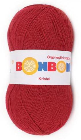 Poze Fir de tricotat sau crosetat - Fire tip mohair din acril BONBON KRISTAL rosu 98237