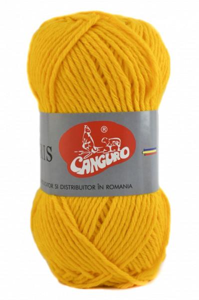 Poze Fir de tricotat sau crosetat - Fire tip mohair din acril CANGURO - TRIS GALBEN 312