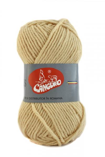 Poze Fir de tricotat sau crosetat - Fire tip mohair din acril CANGURO - TRIS CREAM 396