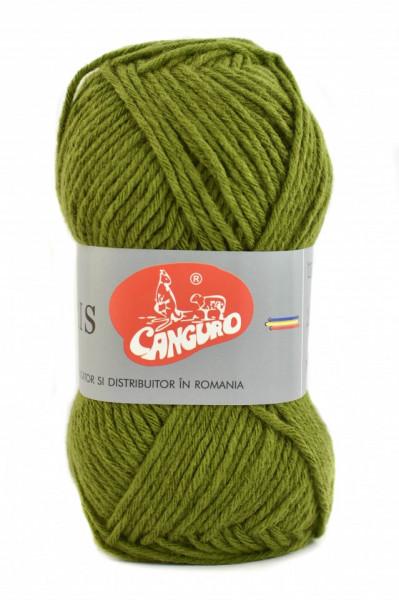 Poze Fir de tricotat sau crosetat - Fire tip mohair din acril CANGURO - TRIS VERDE 397