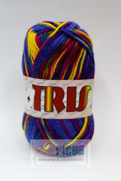 Poze Fir de tricotat sau crosetat - Fire tip mohair din acril CANGURO - TRIS IMPRIMAT DEGRADE 353