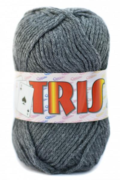 Poze Fir de tricotat sau crosetat - Fire tip mohair din acril CANGURO - TRIS GRI 342