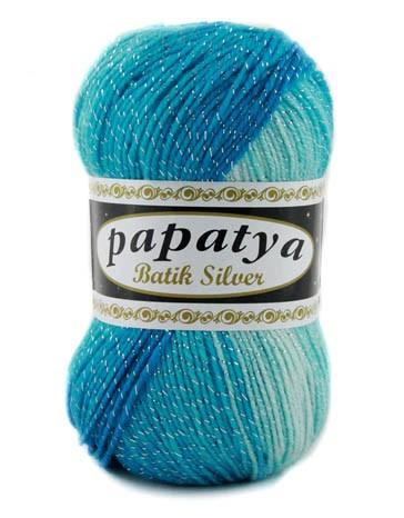 Poze Fir de tricotat sau crosetat - Fire tip mohair din acril Kamgarn Papatya Silver Batik degrade 06