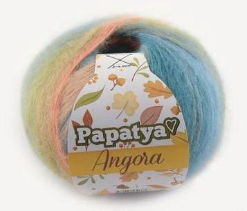 Poze Fir de tricotat sau crosetat - Fire tip mohair din acril Kamgarn Papatya Angora degrade 38