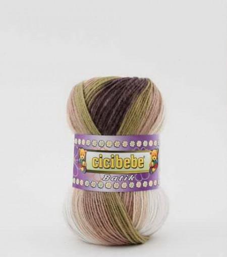 Poze Fir de tricotat sau crosetat - Fire tip mohair din acril Kamgarn Cicibebe Batik degrade 05