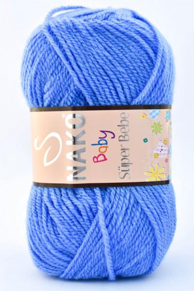 Poze Fir de tricotat sau crosetat - Fire tip mohair din acril Nako SUPER BEBE ALBASTRU 1256