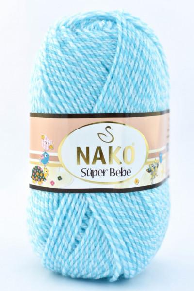 Poze Fir de tricotat sau crosetat - Fire tip mohair din acril Nako SUPER BEBE ALBASTRU 21292