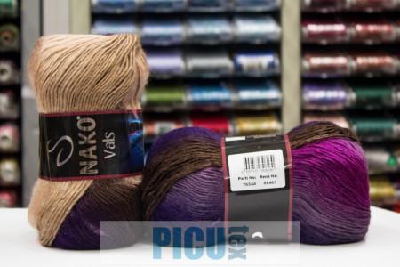 Poze Fir de tricotat sau crosetat - Fire tip mohair din acril premium Nako VALS DEGRADE 86463