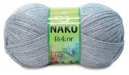 Poze Fir de tricotat sau crosetat - Fire tip mohair din acril premium Nako REKOR GRI 195