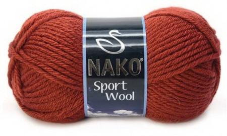 Poze Fir de tricotat sau crosetat - Fire tip mohair din acril si lana Nako Sport Wool Maro 4409