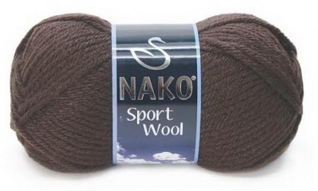 Poze Fir de tricotat sau crosetat - Fire tip mohair din acril si lana Nako Sport Wool Maro 4987
