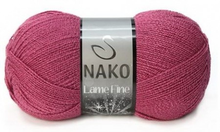 Poze Fir de tricotat sau crosetat - Fire tip mohair din acril si poliester metalic NAKO LAME FINE ROZ 6578PB