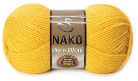 Poze Fir de tricotat sau crosetat - Fire tip mohair din lana 100% Nako PURE WOOL GALBEN 11206