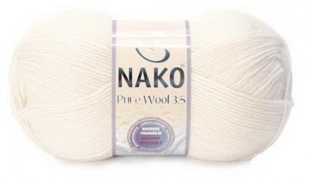 Poze Fir de tricotat sau crosetat - Fire tip mohair din lana 100% Nako PURE WOOL 3,5 CREAM 2378