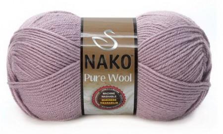 Poze Fir de tricotat sau crosetat - Fire tip mohair din lana 100% Nako PURE WOOL GRI 10155