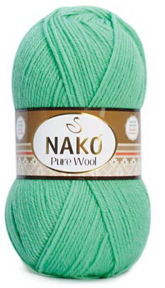Poze Fir de tricotat sau crosetat - Fire tip mohair din lana 100% Nako PURE WOOL VERNIL 10001