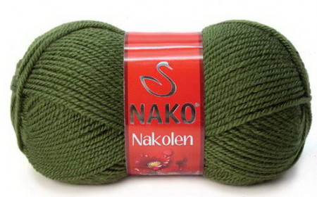 Poze Fir de tricotat sau crosetat - Fire tip mohair din lana 50% si acril 50% Nakolen VERDE 1902