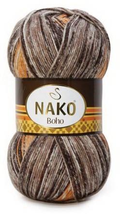 Poze Fir de tricotat sau crosetat - Fire tip mohair din lana si polyamida Nako BOHO mix 31919