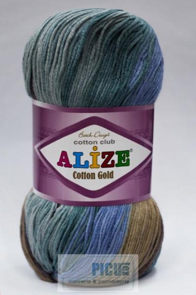 Poze Fir de tricotat sau crosetat - Fir ALIZE COTTON GOLD BATIK - DEGRADE 4148