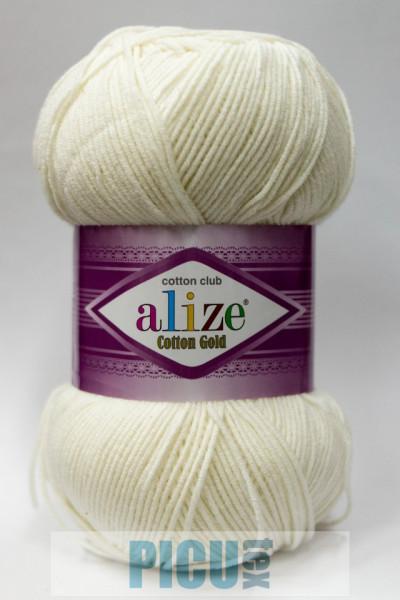Poze Fir de tricotat sau crosetat - Fir ALIZE COTTON GOLD CREM 62