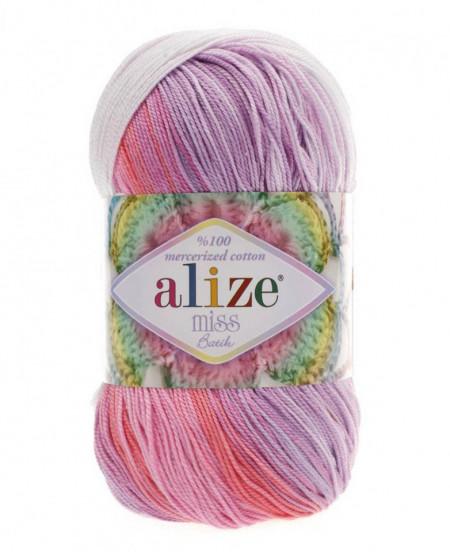 Poze Fir de tricotat sau crosetat - Fir BUMBAC 100% ALIZE MISS BATIK DEGRADE 3705