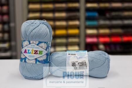 Poze Fir de tricotat sau crosetat - Fir BUMBAC 100% ALIZE MISS BLEO 480