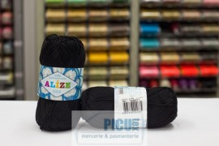 Poze Fir de tricotat sau crosetat - Fir BUMBAC 100% ALIZE MISS NEGRU 60