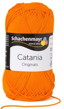 Poze Fir de tricotat sau crosetat - Fir BUMBAC 100% MERCERIZAT CATANIA ORANGE 281