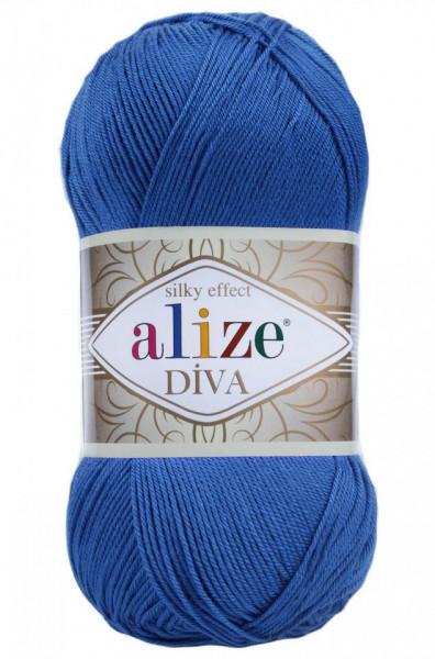 Poze Fir de tricotat sau crosetat - Fir microfibra ALIZE DIVA ALBASTRU 132