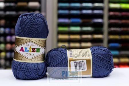 Poze Fir de tricotat sau crosetat - Fir microfibra ALIZE DIVA ALBASTRU 353