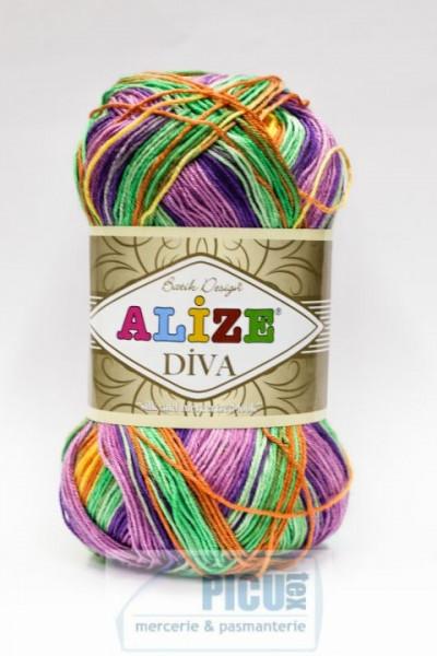 Poze Fir de tricotat sau crosetat - Fir microfibra ALIZE DIVA BATIK DEGRADE 5509