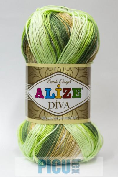 Poze Fir de tricotat sau crosetat - Fir microfibra ALIZE DIVA BATIK DEGRADE 5944