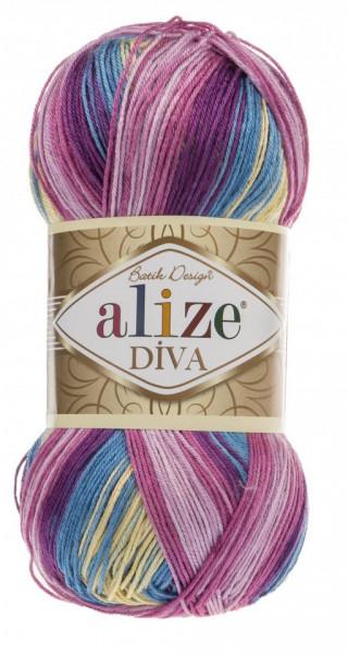 Poze Fir de tricotat sau crosetat - Fir microfibra ALIZE DIVA BATIK DEGRADE 6794