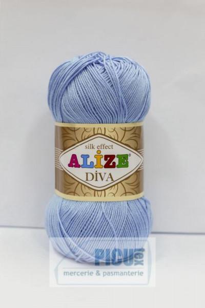 Poze Fir de tricotat sau crosetat - Fir microfibra ALIZE DIVA BLEO 350