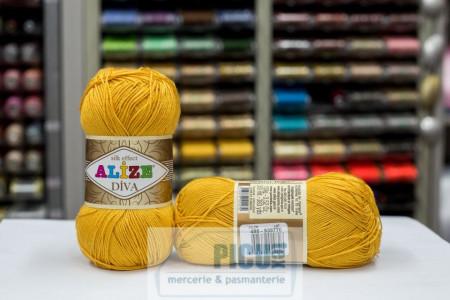 Poze Fir de tricotat sau crosetat - Fir microfibra ALIZE DIVA GALBEN 488