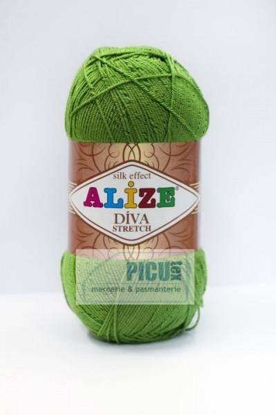 Poze Fir de tricotat sau crosetat - Fir microfibra ALIZE DIVA STRETCH VERDE 210
