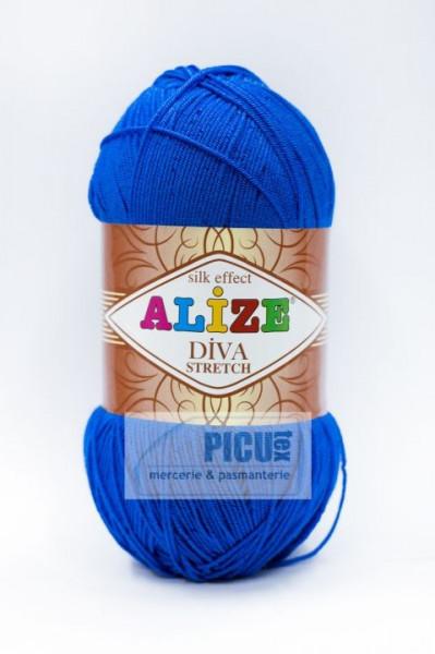 Poze Fir de tricotat sau crosetat - Fir microfibra ALIZE DIVA STRETCH ALBASTRU 132